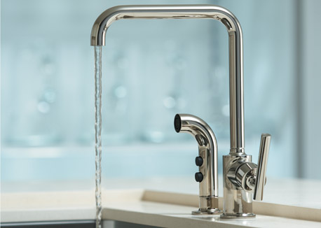Wall mounted faucet with hand shower