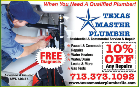 Friendswood's Best Coupon Magazine: Plumber