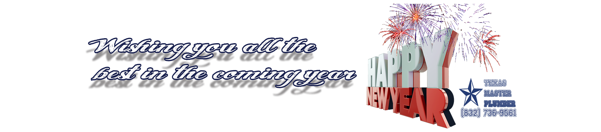 Happy New Year From Texas Master Plumber